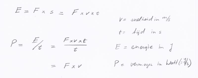 kracht-vermogen-formules2